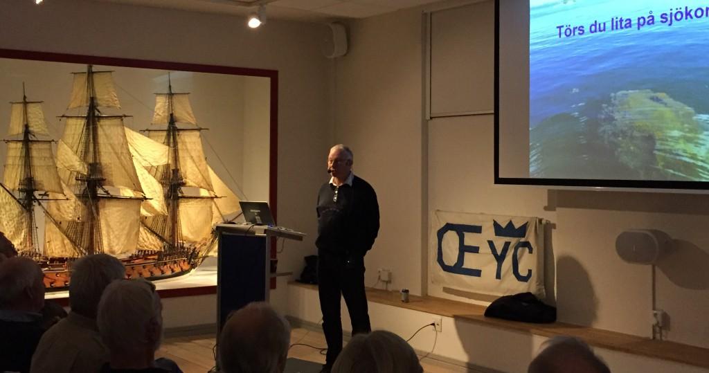 Föredrag med Lasse Granath, sjökartograf i Sjöhistoriskas nya fina lokal.